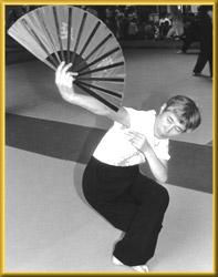 Une représentante du groupe japonnais- Premier festival du Yangjia Michuan - Strasbourg (1995)